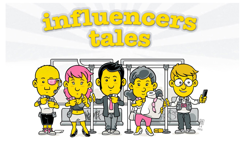 Influencers Tales - clikka per la strip